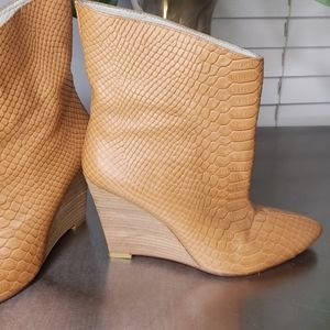 Plomo Hand Made Leather Booties Snake Skin EU 36